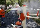 Konak'ın Parklarına Hijyen Operasyonu